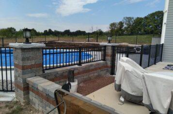 custom fence jackson wi, jackson wi fence installation, aluminum fence installation in jackson