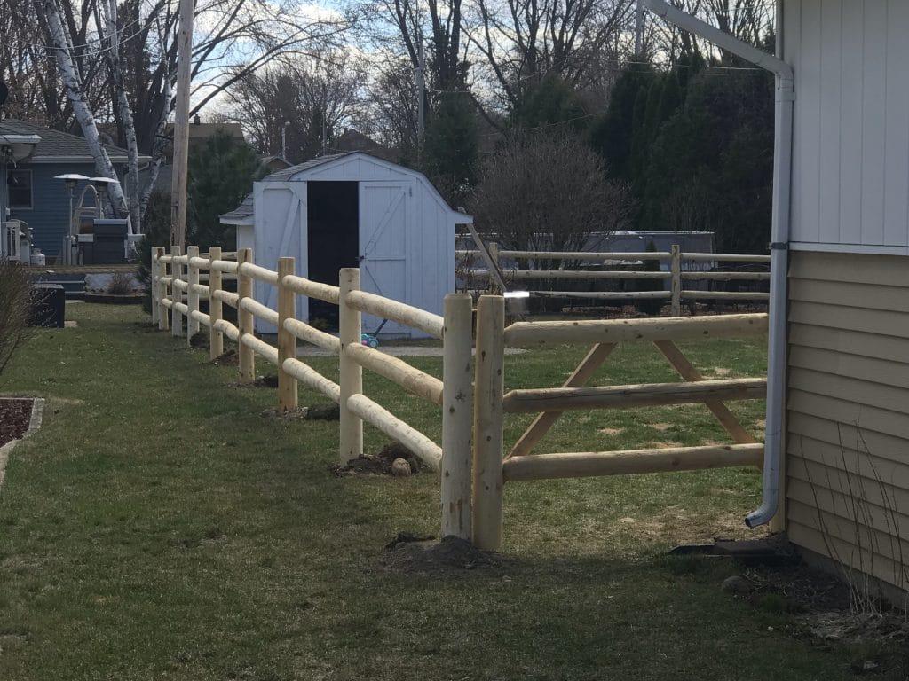 d&d fence, west bend split rail fence installation, split rail fence west bend